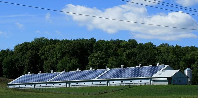 Aurinkopaneelit maatilalla
